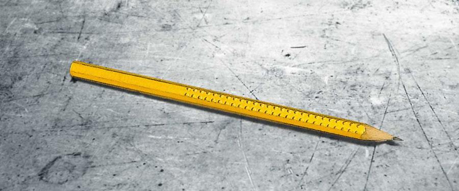 echt vergoldeter Bleistift 23 Karat Blattgold