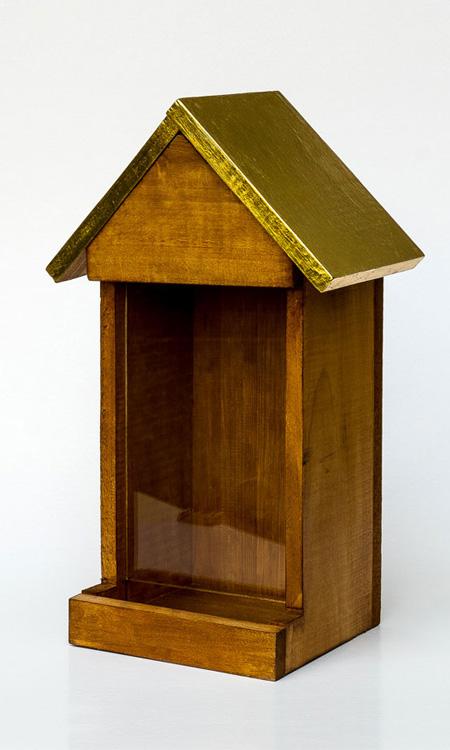 vergoldetes Futterhaus für Vögel