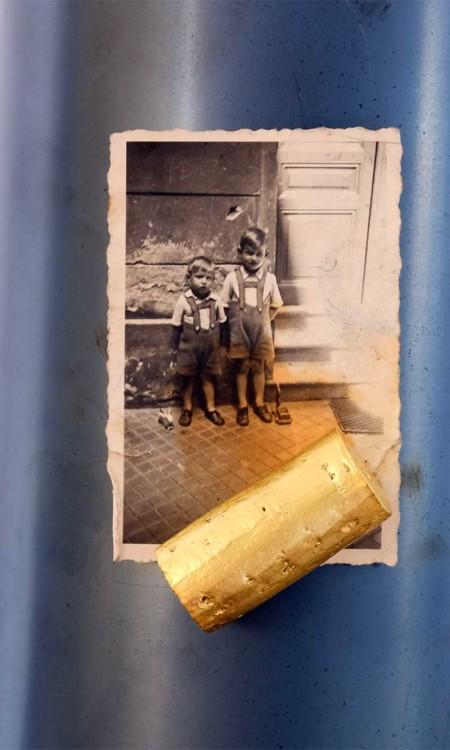 Goldmagnet der echt vergoldete Weinkorken als Kühlschrankmagnet