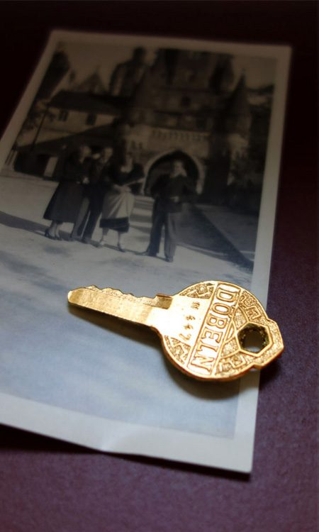 Vergoldeter Schlüssel als Magnet