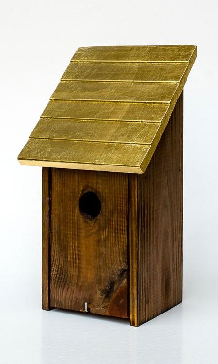 Vogelhaus Goldenes Dacherl Nistkasten