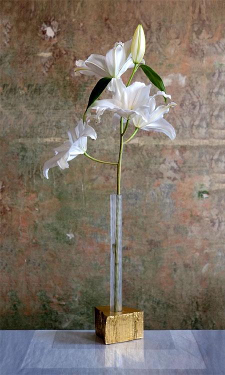 vergoldete Vase Jugendstil