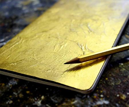 vergoldetes Schreibheft