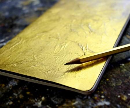 Notizbuch in gold