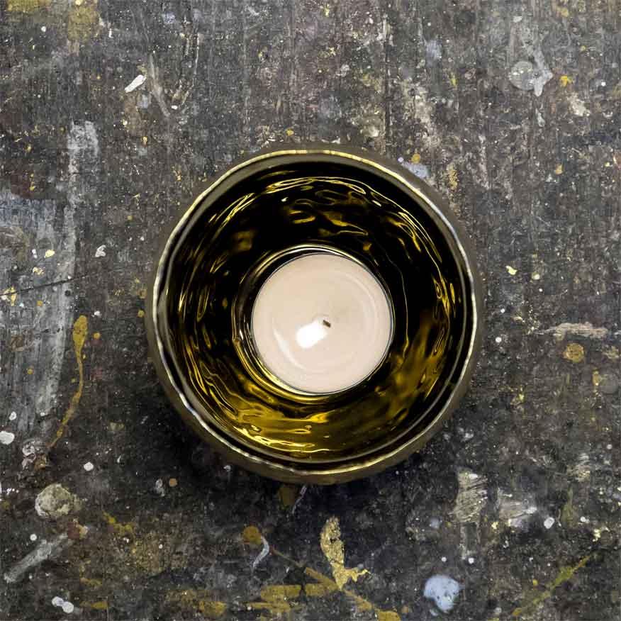 Teelicht Goldschimmer
